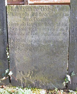 Headstone - William Wickes